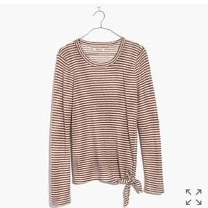 MADEWELL Soundcheck Stripe Side Tie L/S Tee
